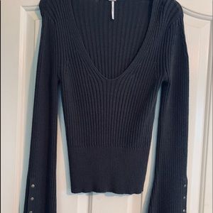 Free People v-neck sweater medium